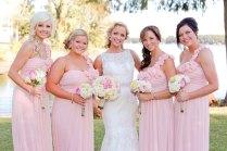 Romantic Lake Side Sunset Wedding Pink Gold Vintage Touches
