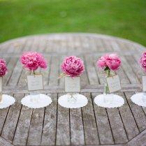 Romantic Spring Wedding Outdoor Venue Simple Centerpieces