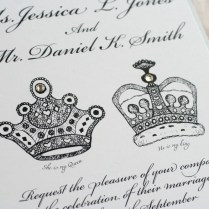 Royal King And Queen Crown Print Wedding By Vreelanddesign On Etsy