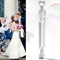 Rustic Wedding Bubbles Love Heart Wands Wedding Bubble Favors
