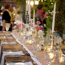 Rustic Wedding Reception Table Decorations