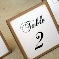 Rustic Wedding Table Number Set, Vintage Wedding Table Number Set