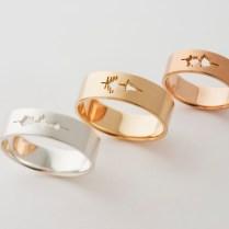 Sakurako Shimizu Waveform Wedding Ring (flat Ring)