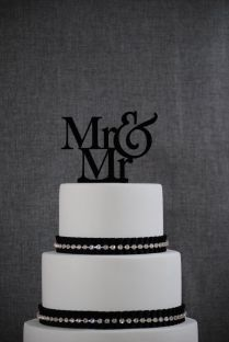 Same Sex Wedding Cake On Wedding Cakes With Gay Cake Topper Same