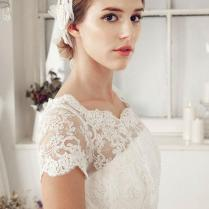 Scalloped Lace Cap Sleeve A
