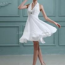 Short Beach Halter Wedding Dresses For Your Modest And Elegant
