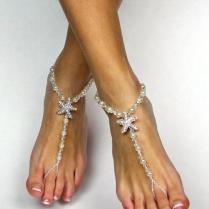 Starfish Barefoot Sandals Beach Wedding Sandals Foot Jewelry