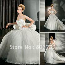 Sweetheart Corset Ball Gown Wedding Dress