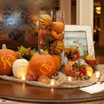Table Fall Wedding Table Centerpieces