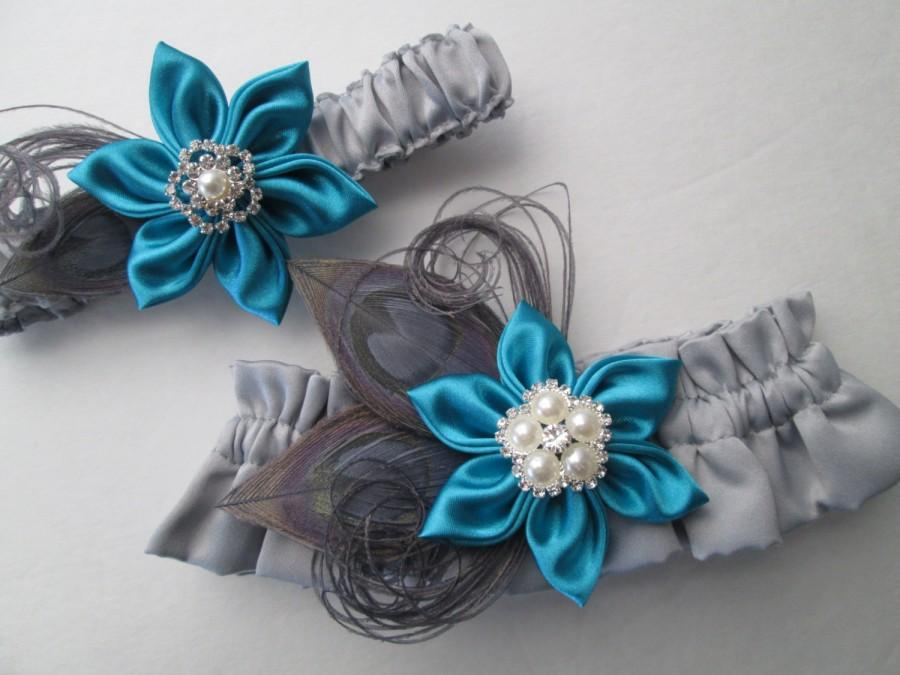 teal blue and silver wedding