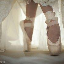 Terri Smith Photo » Ballet Slippers Lace Wedding Dress