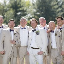 The Gentlemen Wore Tan Tuxedos While Bryan Elected For A Tan