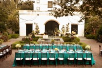 Turquoise And Brown Lowcountry Rehearsal Dinner
