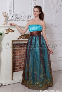 Turquoise And Brown Wedding Dresses