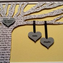 Unique Anniversary Gift Personalized Wedding By Happymomscrafts