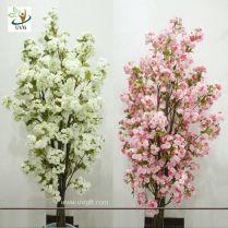 Uvg Chr089 Artificial White Cherry Blossom Trees Small Bonsai