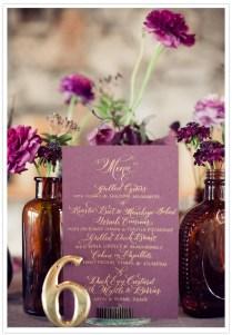 Vintage Plum Gold Wedding Inspiration