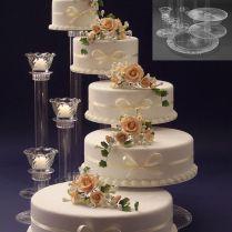 Wedding Cake Pedestals On Wedding Cakes With Cake Displays