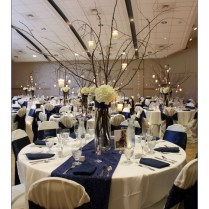 Wedding Centerpieces With Branches And Crystals Crystal And Branch