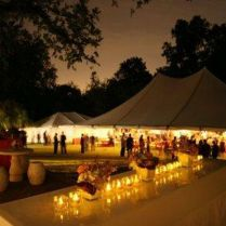 Wedding Decoration Ideas Night Outdoor Wedding Reception
