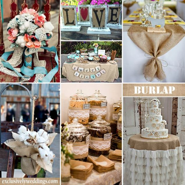 Wedding Decoration Ideas Using Burlap And Lace – Wedding