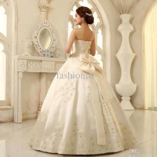 Wedding Dress Big Bow