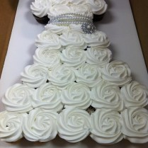 Wedding Dress Cupcake Cake With Bling