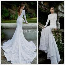 Wedding Dress Lace Sleeves Open Back Naf Dresses