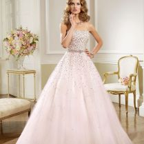 Wedding Dress With Pink Sparkles
