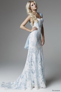 Wedding Dresses Baby Blue And White