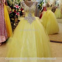 Wedding Dresses In Yellow And White