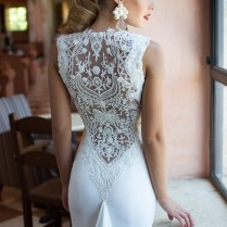 Wedding Dresses With Beading On Back