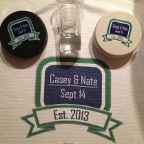 Wedding Favors At Our Hockey Canucks Themed Wedding