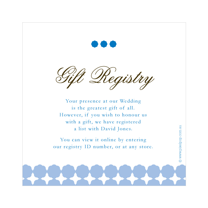 Wedding Registry List Ideas: Wording For Wedding Gift Registry