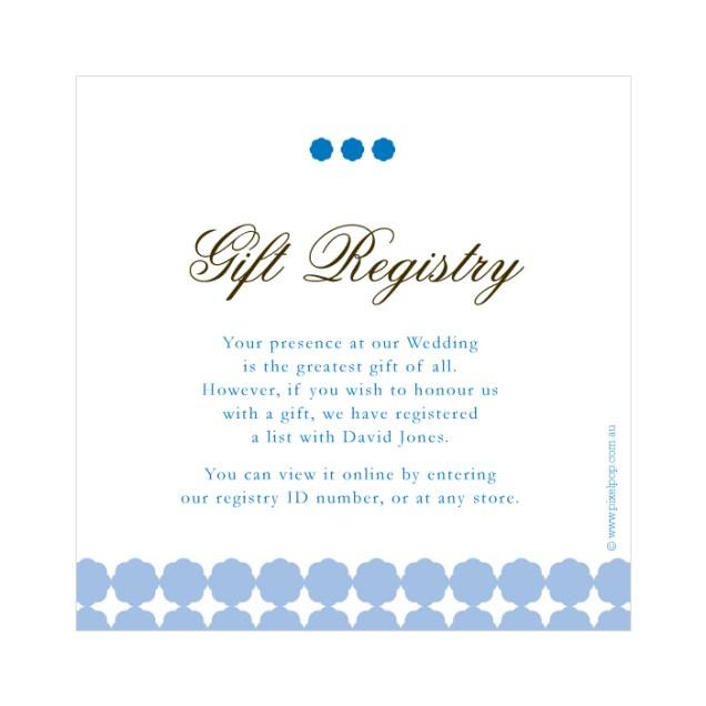 Wedding Gift Registry Wording Poem