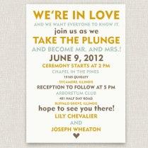 Wedding Invitations Casual Wedding Invitations
