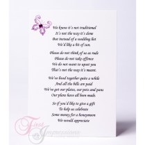 Wedding Money Poems For Invites