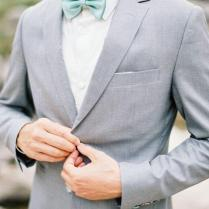 Wedding Suits For Men Light Gray Custom Made, Bespoke Ash Grey