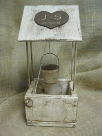 Wedding Wishing Well Distressed Rustic Wood Personalized