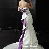 White And Purple Wedding Gowns Are Glamorous