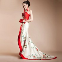 White And Red Asian Wedding Dresses