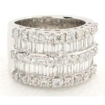 Wide Diamond Wedding Bands – 12