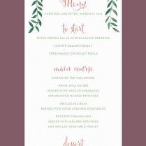 1000 Ideas About Wedding Menu Cards On Emasscraft Org