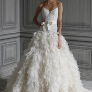 1000 Images About Amazing Black And White Feather Wedding Dresses