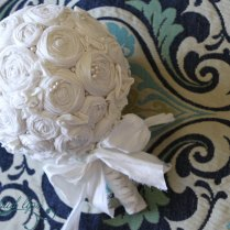 1000 Images About Fabric Flowers Wedding Bouquet On Emasscraft Org