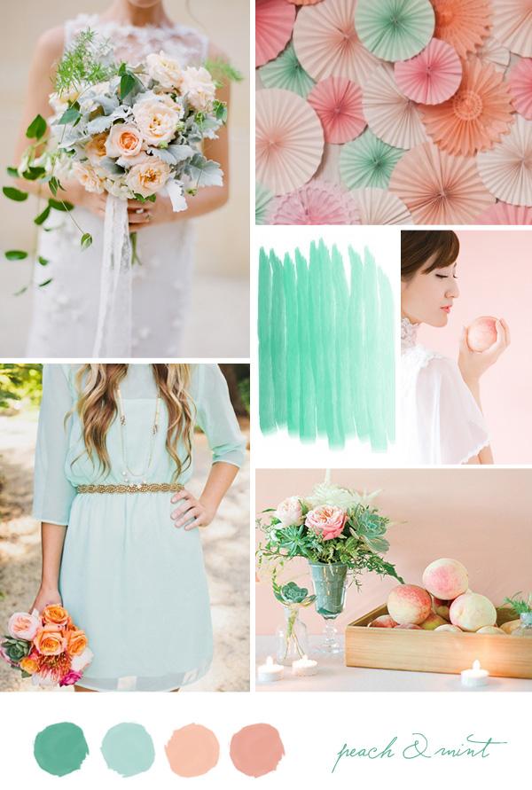 Peach And Mint Green Wedding Ideas