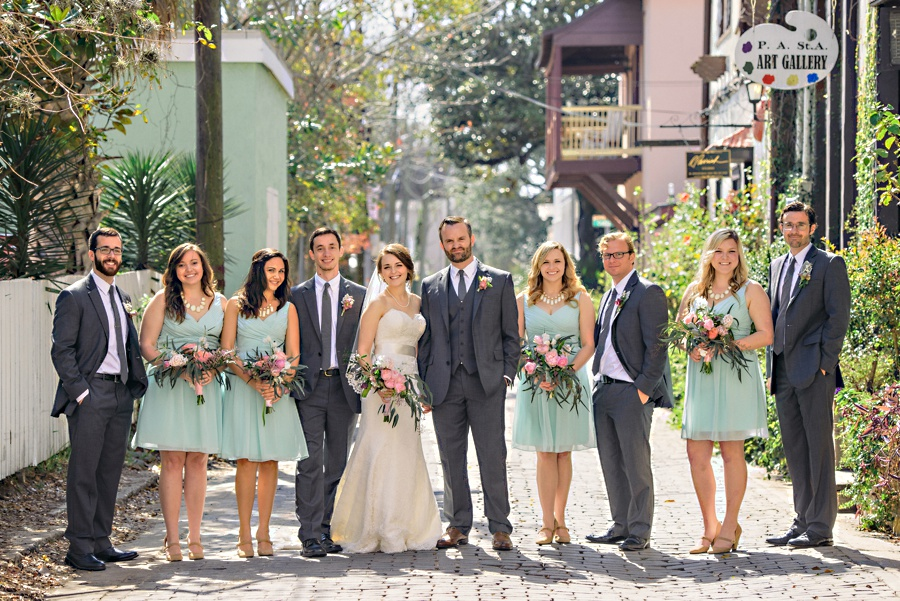 Mint Green Grey Wedding