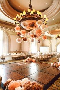 100 Wedding Pom Poms, Peach And Cream Wedding, Tissue Paper Pom