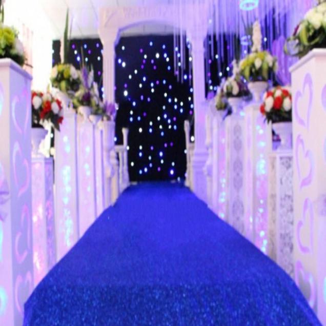 10 M Roll Fashion Royal Blue Pearlescent Wedding Decoration