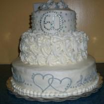 15 60th Anniversary 2 Tier Wedding Cakes Photo
